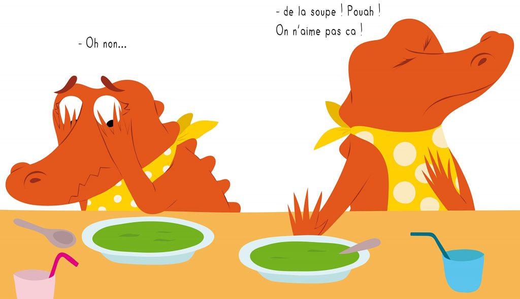 La soupe aux frites illustration Lesenfantsalapage