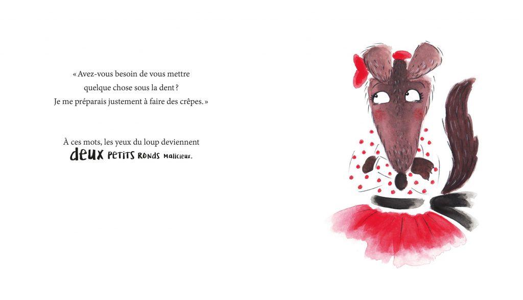 colère de loup illustration