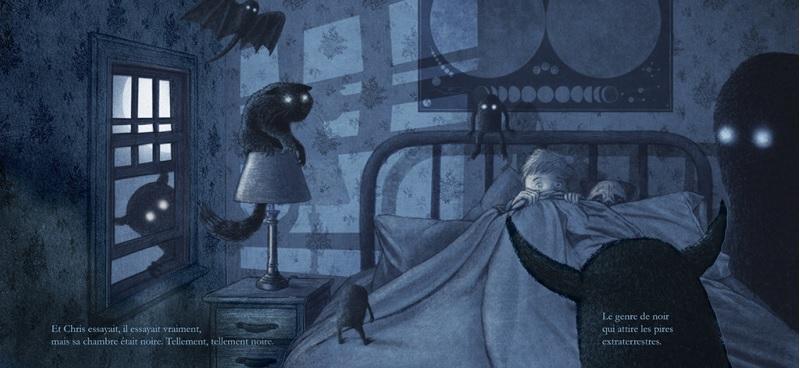 Le noir de la nuit illust