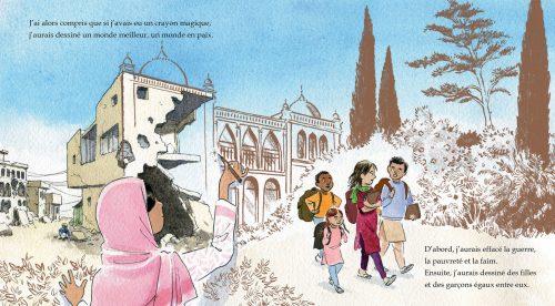 Le crayon magique de Malala illustration