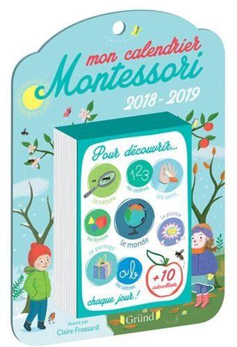 Mon calendrier Montessori